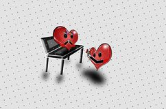¡Dos corazones rojos que proponen arte pop! libre illustration