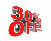 ¡el 30% apagado! Imagen de archivo libre de regalías