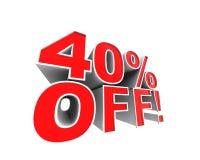 ¡el 40% apagado! Fotos de archivo libres de regalías