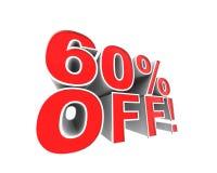 ¡el 60% apagado! Fotos de archivo