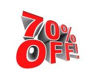 ¡el 70% apagado! Foto de archivo libre de regalías