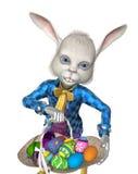 ¡El conejito de pascua tiene huevos a compartir! libre illustration