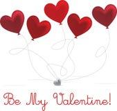 ¡El día de tarjeta del día de San Valentín feliz! Fotografía de archivo libre de regalías