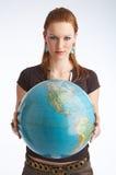 ¡El mundo es el suyo! Imagen de archivo