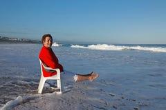 ¡El sentarse en las ondas! fotografía de archivo libre de regalías