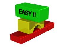 ¡Fácil?!! Foto de archivo libre de regalías