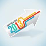 ¡Feliz Año Nuevo 2013! ilustración del vector