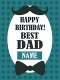 ¡Feliz cumpleaños! El mejor papá, tarjeta de felicitación