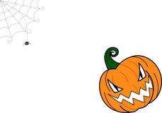 ¡Feliz Halloween! tarjeta del deseo Fotografía de archivo libre de regalías