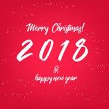 ¡Feliz Navidad! 2018 Años Nuevos feliz libre illustration