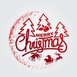 ¡Feliz Navidad y Feliz Año Nuevo! Tarjeta de felicitación Imagen de archivo libre de regalías