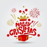 ¡Feliz Navidad y Feliz Año Nuevo! Tarjeta de felicitación Foto de archivo libre de regalías