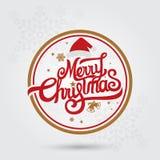 ¡Feliz Navidad y Feliz Año Nuevo! Tarjeta de felicitación Fotos de archivo libres de regalías