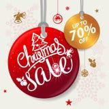 ¡Feliz Navidad y Feliz Año Nuevo! Tarjeta de felicitación Imágenes de archivo libres de regalías