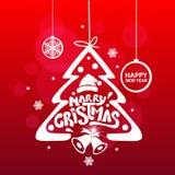 ¡Feliz Navidad y Feliz Año Nuevo! Tarjeta de felicitación Fotografía de archivo