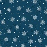 ¡Feliz Navidad y una Feliz Año Nuevo! Un sistema de fondos inconsútiles con símbolos tradicionales: copos de nieve en un fondo az libre illustration