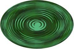 ¡Fondo, ejemplo una esfera con una línea ondulada en el fondo blanco! foto de archivo