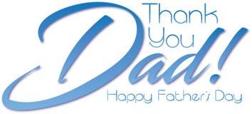 ¡Gracias papá! Día feliz del ` s del padre Foto de archivo libre de regalías