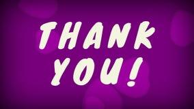 ¡Gracias! texto con el fondo púrpura ilustración del vector