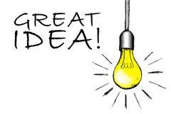 ¡Gran idea! imágenes de archivo libres de regalías
