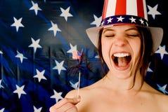 ¡Grrrl americano! Imagen de archivo libre de regalías
