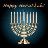 ¡Hanukkah feliz! tarjeta del deseo de la turquesa
