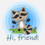 ¡Hola, amigo! ilustración del vector
