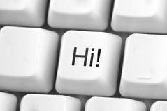 ¡Hola! botón fotografía de archivo libre de regalías