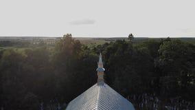 ¡Iglesia de San Miguel el arcángel! almacen de metraje de vídeo