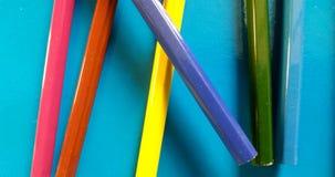 ¡La escuela coloreada dibujó a lápiz el toghether mezclado! foto de archivo libre de regalías