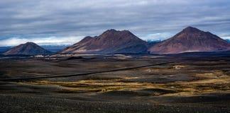 ¡La tierra del hielo y del fuego!! Fotografía de archivo libre de regalías