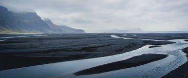¡La tierra del hielo y del fuego!! Foto de archivo libre de regalías