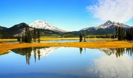 ¡Lago sparks al final del día! imagen de archivo libre de regalías