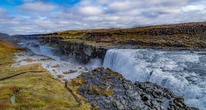 ¡Las cascadas de la tierra del hielo y del fuego!! Imagen de archivo libre de regalías