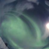 ¡Las pistas para arriba, aurora están viniendo! Fotos de archivo libres de regalías