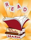 ¡Leído, escriba, aprenda! (JPG+EPS) stock de ilustración