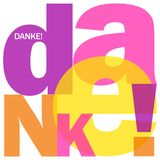 ¡Lengua alemana DANKE! pone letras al collage ilustración del vector