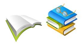 ¡Libros y lente! stock de ilustración
