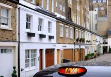 ¡Los taxis están siempre en su servicio! Foto de archivo