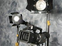 ¡Luces, cámara, acción! Foto de archivo libre de regalías