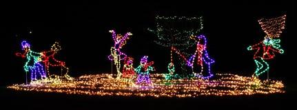 ¡Luces de la Navidad - diversión del invierno! Fotografía de archivo