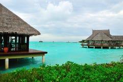 ¡Maldives, recepción al paraíso! Foto de archivo