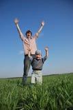 ¡Manos para arriba! Imagenes de archivo