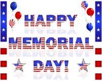 ¡Memorial Day feliz! Fotografía de archivo