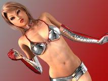 ¡Muchachas calientes 3D - las muchachas virtuales más atractivas 3D nunca! Fotografía de archivo