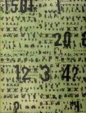 ¡Números! foto de archivo