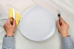¡Ningún alimento en la placa! Fotografía de archivo libre de regalías
