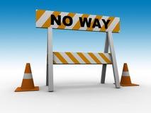 ¡Ninguna manera! Foto de archivo libre de regalías