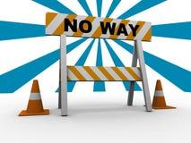 ¡Ninguna manera! Imagen de archivo