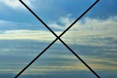 ¡Ningunos cielos azules! Fotografía de archivo